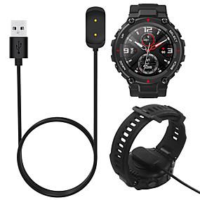 저렴한 충전 플러그-1 메터 충전기 케이블 amazfit t-rex a1918 gtr 42 미리 메터 47 미리 메터 gts smartwatch usb 충전 어댑터 코드