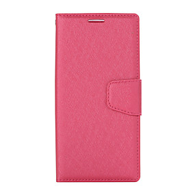 cheap Sony-Case For Sony XZ1 Card Holder Flip Magnetic Full Body Cases Solid Colored PU Leather textured