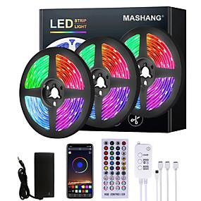 cheap LED Strip Lights-MASHANG 5M 10M 15M 20M LED Strip Lights RGB LED Light Strip Music Sync LED Strip 2835 SMD Color Changing LED Strip Light and 40 Keys Remote Bluetooth Controller for Bedroom Home TV Back Lights