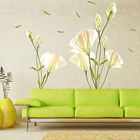 cheap Decoration Stickers-Floral / Botanical Wall Stickers Plane Wall Stickers Decorative Wall Stickers PVC Home Decoration Wall Decal Wall / Window Decoration 1pc