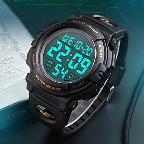 Недорогие Фирменные часы-Муж. Спортивные часы Армейские часы Наручные часы Мода Защита от влаги силиконовый Черный / Синий / Серебристый металл Цифровой - Черный Желтый Красный Два года Срок службы батареи / Японский