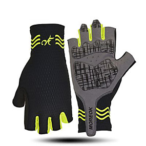cheap Motorcycle Gloves-MOREOK Mens Cycling GlovesHalf Finger Biking Glove MTB DH Road Bicycle Gloves Gel Pad Shock-Absorbing Anti-Slip Breathable Motorcycle Mountain Bike Gloves Unisex Women