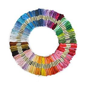 お買い得  ホリデー&パーティー デコレーション-50ピースランダムカラー刺繍diyシルクラインブランチスレッド類似dmcスレッドフロスかせクロスステッチスレッド