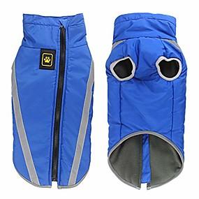 economico Prodotti Per Animali-cappotto invernale per cani, giacca per cani impermeabile riflettente, vestiti per animali domestici per il freddo per cani di taglia media (blu)