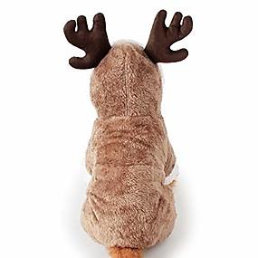 preiswerte Haustierzubehör-Santa Elk Hund Kostüm Weihnachten Haustier Hoodie Mantel Kleidung Hund Haustier Kleidung Winter Herbst fit für Hündchen Teddy Chihuahua Yorkshire Pudel Malteser Welpen Mops