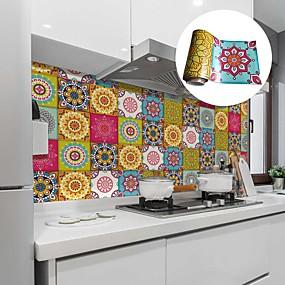 Χαμηλού Κόστους Κουζίνα και τραπεζαρία-δημιουργικά αυτοκόλλητα λάδι κουζίνας και αδιάβροχα πλακάκια αυτοκόλλητα αφαιρούμενα μαροκινό στιλ αυτοκόλλητα τοίχου προστασίας του περιβάλλοντος
