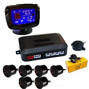 Недорогие Автоэлектроника-a65k автомобиль авто автомобиль обратная резервная радарная система с 6 датчиками парковки обнаружение расстояния ЖК-дисплей расстояния звуковое предупреждение гудение