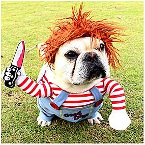 economico Prodotti Per Animali-costume di halloween per cani costume da compagnia per cosplay vestito divertente costume per cani di piccola taglia media