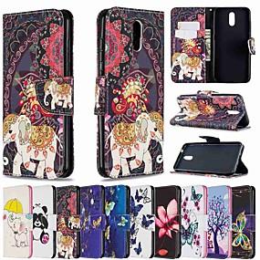 baratos Nokia-estojo para nokia 1.3 nokia 2.3 nokia 5.3 porta-cartão de carteira com suporte estojos de corpo inteiro de borboleta dourada pu couro tpu para nokia 6.2 nokia 2.2 nokia 3.2