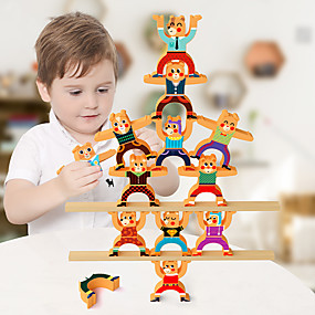 cheap Educational Toys-3D Puzzle Bear Transformable Animals Cute Wooden 1 pcs Kids Teenager All Boys and Girls Toy Gift / New Design / Parent-Child Interaction