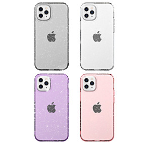 cheap iPhone 12 Case-Case For Apple iPhone 12 / iPhone 12 Mini / iPhone 12 Pro Max Shockproof / Transparent / Glitter Shine Back Cover Transparent / Solid Colored / Glitter Shine TPU