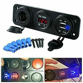 Недорогие Автомобильные зарядные устройства-LOSSMANN Автомобиль Автомобильное зарядное устройство 2 USB порта для 5 V