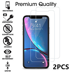 cheap iPhone XR-2PCS Tempered Glass For iphone X XS 11 Pro Max XR 7 8 Screen Protector SE 2020 protective Glass on iphone 7 8 6s Plus X 11 Pro glass