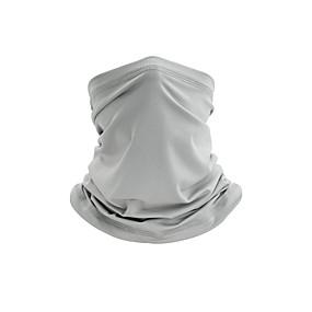 ieftine Îmbrăcăminte sportivă-Gât Gaiter Gât tub Balaclava Masca Bandana Bărbați Pentru femei Unisex Veșminte de cap Mată Protecție UV la soare Rezistent la Praf Răcire pentru Fitness Alergat Ciclism Toamnă Primăvară Vară Alb