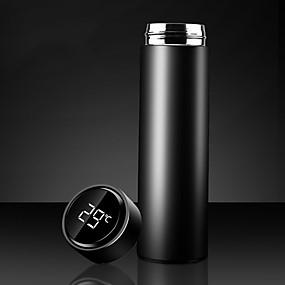 رخيصةأون المطبخ و السفرة-500 مللي ذكي زجاجة ماء الترمس الفولاذ المقاوم للصدأ فراغ قوارير عرض درجة الحرارة القدح قارورة شاي كوب ترمس كوب قهوة