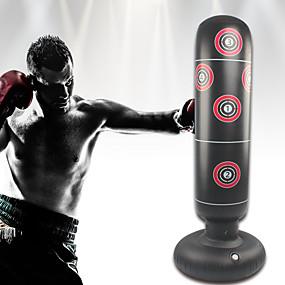 baratos Boxe-Saco de boxe inflável para boxe para Kung Fu Artes marciais MMA Luta Kickboxing Autônomo Flexível Vazio Não Tóxico Alivia Estresse Treinamento de Resistência Crossfit Preto / Crianças