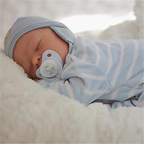 hesapli Oyuncaklar & Hobi Gereçleri-17.5 inç Yeniden Doğmuş Bebekler Bebek ve Yürüme Evresi Oyuncakları Yeniden doğmuş bebek bebek Darren Yeni doğan canlı El Yapımı Simülasyon Disket kafa Kumaş Silikon Vinil Giysi ve Aksesuarlarla Kız