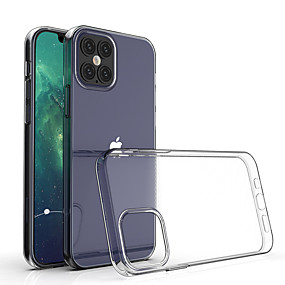 cheap iPhone 12 Case-Transparent Shockproof Soft Silicone Case for iPhone 12 11 Pro Max X XR XS 8 7 6 6S Plus SE 2020 Case 360 Silicone Protect Cover
