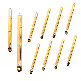 ieftine Becuri Incandescente-10buc dimmable vintage Edison bec e27 t300 40w candelabru pandantiv lumini 220v led lampă cu incandescență