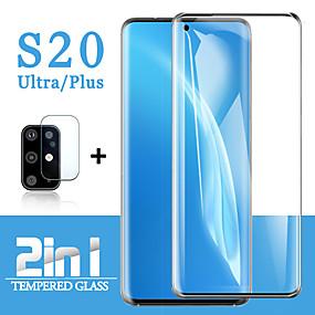 Χαμηλού Κόστους Προστατευτικά οθόνης για Samsung-2 in1 για samsung galaxy s20 εξαιρετικά προστατευτικό γυαλί samsung s20 plus προστατευτικό οθόνης φακό με σκληρυμένο γυαλί galaxy s20