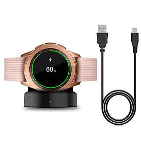 economico Attacco spina di ricarica-caricabatterie wireless smart watch per samsung galaxy watch 42 / 46mm caricabatterie base di ricarica per galaxy gear s2 / s3