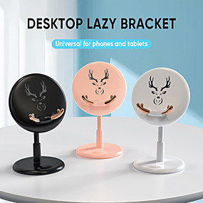 cheap Bedside-Cartoon Phone Holder Stand Round Cute Bracket For iphone Samsung Mobile Phone Desktop Tablet For ipad Support ABS Stand
