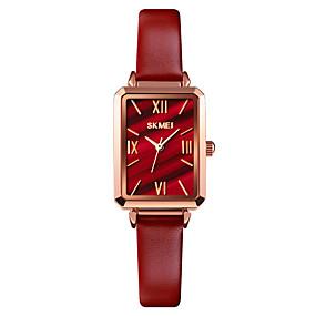 ieftine Cuarț ceasuri-SKMEI Pentru femei Quartz Quartz Stil Oficial Stil modern Elegant Rezistent la Apă Analog Negru Roșu-aprins Auriu / Un an / Piele Autentică / Rezistent la Șoc / Piele Autentică / Un an
