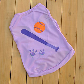 preiswerte Haustierzubehör-Hund T-shirt Hundekleidung Purpur Blau Kostüm Baumwolle XS S M L