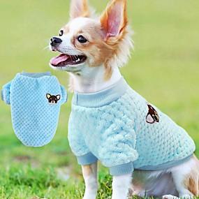 economico Prodotti Per Animali-Cane Maglioni Felpa Osso Casual Inverno Abbigliamento per cani Viola Rosa Blu Costume Pile XS S M L