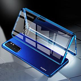 levne Xiaomi-pouzdro pro xiaomi pocophone f1 / mi 10pro / mi cc9 / mi note10 / redmi note 7/8 / 9pro / k30 pro nárazuvzdorné / flip / transparentní celé tělo 360 kufrů transparentní tvrzené sklo / kov