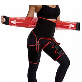 hesapli Egzersiz ve Fitness-3'ü 1 Arada Bel Cincher Uyluk Düzeltici Popo Kaldırıcı Neopren İnce Uyluk Giyotin Bacak Şekillendirme Zayıflama Kemeri Terli Bel Eğitmen Gömlek Spor Dalları Polyester Spor Salonu Egzersizi Fitness