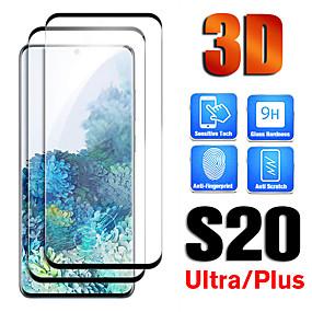 voordelige Screenprotectors voorSamsung-2 stuks volledige lijm gebogen keramisch gehard glas voor Samsung Galaxy S20 Ultra S20 S20 Plus Screen Protector Film