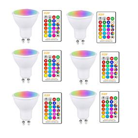 ieftine Spoturi LED-5w rgbw led bec gu10 e27 ac85-265v lampă de iluminat schimbare culoare reglabilă cu telecomandă ir