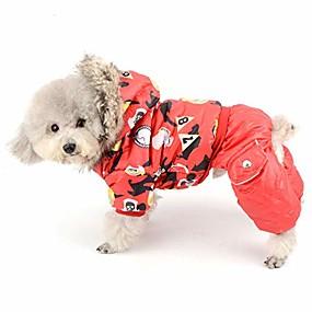 halpa Lemmikkieläinten Tarvikkeita-vedenpitävä koiran lumipuku jumpsuit tyttö talvi fleece vuorattu takki pentu huppari chihuahua vaatteet tuulenpitävä doogy parka asu puuvillapehmustettu hupullinen takki pienille koirille kissoille