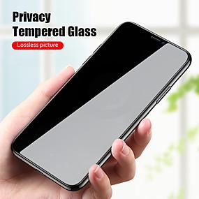 baratos iPhone XS-vidro temperado anti-espião peep privacidade para iphone 11 pro xs max xr x protetor de tela para filme iphone 12 pro max