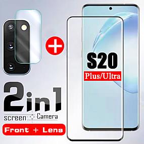 ieftine Protectoare Ecran de Samsung-1 / 2bucuri 2 în 1 sticlă securizată pentru samsung galaxy s20 ultra s20 aparat de fotografiat protector ecran ecran sticlă de protecție pe sticla samsung s20 plus
