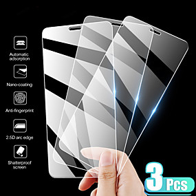 baratos Comprar por Modelo de Celular-Protetor de tela 3pcs apple iphone 11 de alta definição (hd) protetor de tela frontal 3 pcs vidro temperado para iphone 11 pro max / se2020 / xs max / xr xs 7/8 7/8 plus