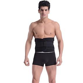 ieftine Exerciții & Fitness-Spate / centură de sprijin lombar Corset 1 pcs Sport Chinlon Fitness Alergat Gimnastică Elastic Respirabil Formator Pentru Bărbați sportiv