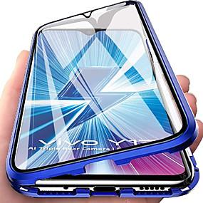 Недорогие Кейс Vivo-чехол для vivo vivo x23 / vivo x27 / vivo x50 pro / x30 / s7 5g / z6 / s5 / s6 / y50 / y19 противоударный / флип / прозрачный полный корпус прозрачное закаленное стекло / металл с упаковкой