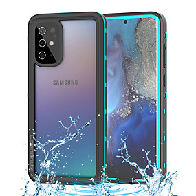 cheap Samsung Galaxy S20-Samsung Galaxy S20Ultra Waterproof Case Shockproof Waterproof Diving Case IP68 Mobile Phone Case Note10Plus Front and Rear Cover Transparent Glass A51 S105G All-inclusive 360 Protective Case
