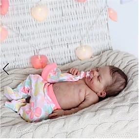 hesapli Oyuncaklar & Hobi Gereçleri-20 inç Yeniden Doğmuş Bebekler Bebek ve Yürüme Evresi Oyuncakları Kız Bebeklerin Yeniden doğmuş bebek bebek Nisan Yeni doğan canlı El Yapımı Simülasyon Kumaş Silikon Vinil Giysi ve Aksesuarlarla Kız