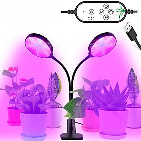 رخيصةأون مصابيح النباتات-1 قطع 30 واط usb يعتم أدى النمو ضوء أدى مصابيح النبات الطيف الكامل مصباح الموقت النباتية للداخلية الخضار زهرة الشتلات