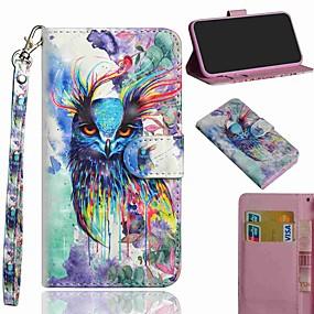 baratos Sony-Capinha Para Sony Sony Xperia L3 / Xperia XZ2 / Xperia XA3 Carteira / Porta-Cartão / Com Suporte Capa Proteção Completa Animal PU Leather / TPU