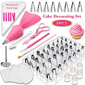 voordelige Keuken & Eten-83 stks bakken set set taart decoreren mond tool fondant kleurpen apparaat beginnende huishoudelijke cakevorm