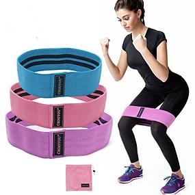 ieftine Exerciții & Fitness-Benzi de botine Benzi de rezistență pentru picioare și bot 3 pcs Sport latex de mătase Yoga Pilates Fitness Forța de Formare Durabil Antrenament Muscular pentru Corp Antrenament de rezistenta