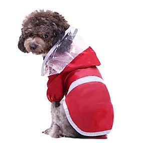economico Prodotti Per Animali-Prodotti per cani Prodotti per gatti Impermeabile Tinta unita Originale Abbigliamento per cani Rosso Costume Poliestere S M L XL XXL XXXL