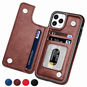 cheap iPhone 12 Case-Luxury Retro PU Leather Case For iPhone 12 SE 2020 11 11 Pro 11 Pro Max XS Max XR XS X 8 8 Plus 7 7 Plus 6 6 Plus 6s 6s Plus