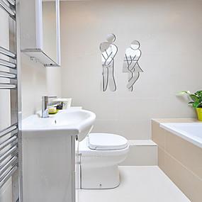 povoljno Ukrasne naljepnice-3d zidne naljepnice zrcalne zidne naljepnice toaletne ukrasne zidne naljepnice, akrilne ukrase za dom zidne naljepnice zidne ukrase 1kom