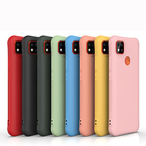 levne Xiaomi-pouzdro pro xiaomi redmi note 9 / mi 10 / redmi note 8 nárazuvzdorný / prachotěsný zadní kryt jednobarevný silikagel