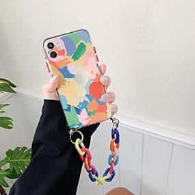 olcso iPhone 11Pro Max-tok iphone 7 8 7plus 8plus x xr xs xsmax se (2020) iphone 11 11pro 11promax ütésálló ultravékony mintás hátlap geometrikus minta tpu